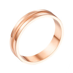Акция на Обручальное кольцо из красного золота 000000369 16 размера от Zlato