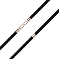 Акция на Синтетический шнурок с замком и вставками из красного золота 000140686 55 размера от Zlato