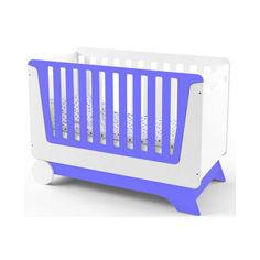 Акция на Детская кроватка IndigoWood NOVA KIT со съемной спинкой и колесами Индиго/Белый (34325) от Allo UA