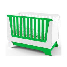 Акция на Детская кроватка IndigoWood NOVA KIT со съемной спинкой, колесами и ящиком Зеленый/Белый (34332) от Allo UA