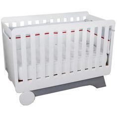 Акция на Детская кроватка IndigoWood NOVA Серый/Белый (31595) от Allo UA