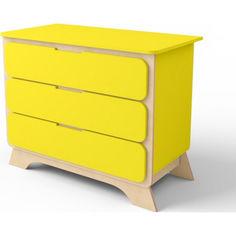 Акция на Комод с пеленальным столиком IndigoWood NOVA Желтый (32892) от Allo UA
