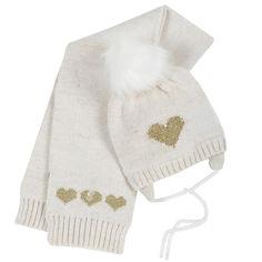 Акция на Комплект Happy princess: шапка и шарф от Chicco
