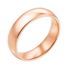 Акция на Обручальное кольцо из красного золота 000119378 23 размера от Zlato