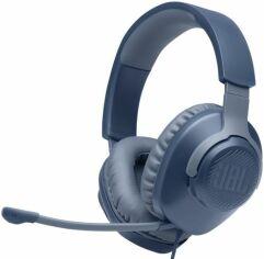 Акция на Навушники JBL Quantum 100 (JBLQUANTUM100BLU) Blue от Територія твоєї техніки