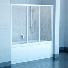 Акция на Шторка для ванны RAVAK AVDP3-150 Белый TRANSPARENT 40VP0102Z1 от Allo UA