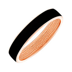 Акция на Обручальное кольцо из красного золота с эмалью 000140367 16.5 размера от Zlato