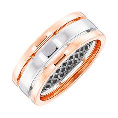 Акция на Золотое обручальное кольцо в комбинированном цвете 000141721 19.5 размера от Zlato