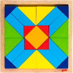 Акция на Пазл GOKI деревянный Мир форм-прямоугольник (57572-4) от Foxtrot