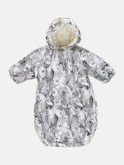 Акция на Зимний комбинезон-конверт Huppa Emily 32010055-02628 62 см Светло-Серый с принтом (4741468908434) от Rozetka