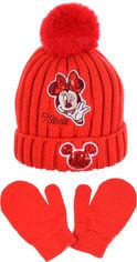 Акция на Шапка + варежки Disney Minnie TH4158 50 см Красные (3609084648336) от Rozetka