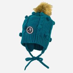 Акция на Зимняя шапка с завязками Huppa 83570000-80066 MACY XXS Бирюзово-зеленая (4741468735740) от Rozetka