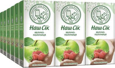 Акция на Упаковка сока ОКЗДП Наш Сок Яблочно-клубничный сок 0.33 л х 18 шт (4820192260886) от Rozetka