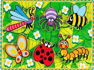 Акция на Деревянная рамка-вкладыш Viga Toys Насекомые (56437) от Rozetka