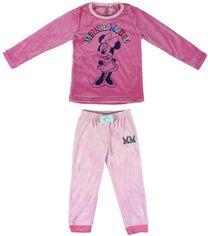 Акция на Пижама (футболка с длинным рукавом + штаны) велюровая Disney Minnie 2200004727 116 см Фуксия (8427934316083) от Rozetka