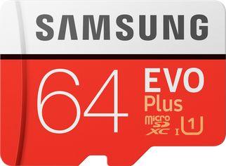 Акция на Samsung EVO Plus microSDXC 64GB UHS-I Class 10 + SD адаптер (MB-MC64HA/RU) от Rozetka
