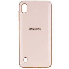 Акция на TPU чехол GLOSSY LOGO для Samsung Galaxy A10 (A105F) Розовый / Rose Gold от Allo UA
