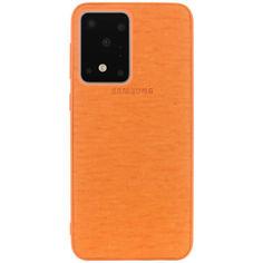 Акция на TPU чехол Fiber Logo для Samsung Galaxy S20 Ultra Оранжевый от Allo UA