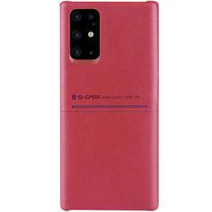 Акция на Кожаная накладка G-Case Cardcool Series для Samsung Galaxy S20+ Красный от Allo UA