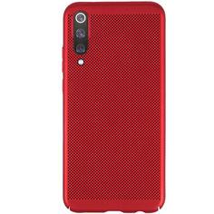 Акция на Ультратонкий дышащий чехол Grid case для Xiaomi Mi 9 Красный от Allo UA