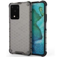 Акция на Ударопрочный чехол Honeycomb для Samsung Galaxy S20 Ultra Черный от Allo UA