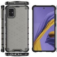 Акция на Ударопрочный чехол Honeycomb для Samsung Galaxy A51 Черный от Allo UA