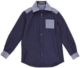 Акция на Рубашка Zironka Luxury Collection 42-9005-5 128 см Темно-синяя (ROZ6205115759) от Rozetka