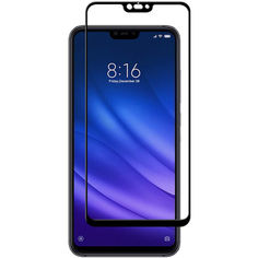 Акция на Защитное цветное стекло Mocoson 5D (full glue) для Xiaomi Mi 8 Lite / Mi 8 Youth (Mi 8X) Черный от Allo UA
