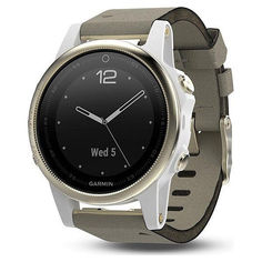 Акция на Garmin Fenix 5S Champagne Sapphire with Gray Suede Band (010-01685-12) от Allo UA