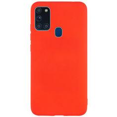 Акция на Силиконовый чехол Candy для Samsung Galaxy A21s Красный от Allo UA