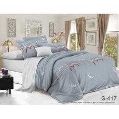 Акция на Комплект постельного белья  с компаньоном ТМ TAG  -  2-спальный  S417 от Allo UA