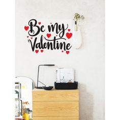 Акция на Наклейка виниловая Zatarga ♡♡♡♡♡Me Valentin ♡♡♡♡♡разные цвета 1200x870мм, черно-красный от Allo UA