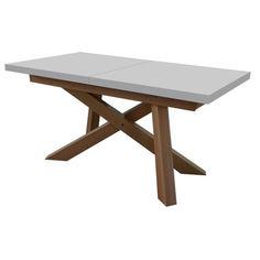 Акция на Обеденный стол нераскладной Скиф СТ-45 180х90х79 см белый,натуральный от Allo UA
