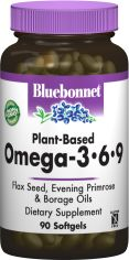 Жирные кислоты Bluebonnet Nutrition Омега 3-6-9 на растительной основе 1000 мг 90 желатиновых капсул (743715010123) от Rozetka