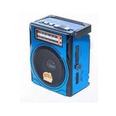 Акция на Портативный аккумуляторный радиоприемник Golon RX 1435 FM MP3 c фонариком от Allo UA