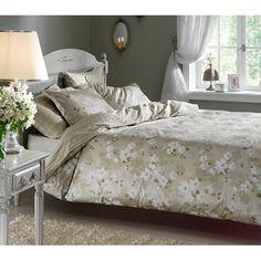 Акция на Комплект постельного белья Tac сатин Delux - Shadow yesil зеленый евро (75) от Allo UA