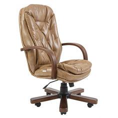 Акция на Офисное Кресло Руководителя Richman Венеция Титан Cream Wood M1 Tilt Кремовое от Allo UA