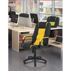 Акция на Офисное Кресло Руководителя Richman Челси Флай 2230-2240 Пластик Рич М1 Tilt Желто-Черное от Allo UA