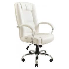 Акция на Офисное Кресло Руководителя Richman Альберто Boom 01 Хром М1 Tilt Белое от Allo UA