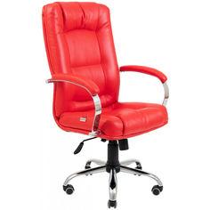 Акция на Офисное Кресло Руководителя Richman Альберто Boom 16 Хром М3 MultiBlock Красное от Allo UA