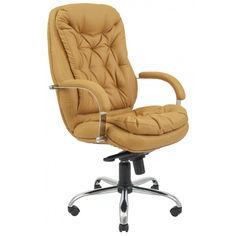 Акция на Офисное Кресло Руководителя Richman Венеция Флай 2205 Хром М3 MultiBlock Темно-бежевое от Allo UA