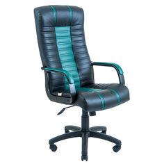 Акция на Офисное Кресло Руководителя Richman Атлант Skaden Подлокотник Рич Пластик М3 MultiBlock Черно-зеленое от Allo UA