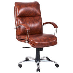 Акция на Офисное Кресло Руководителя Richman Дакота Мадрас Marrone Хром М3 MultiBlock Коричневое от Allo UA