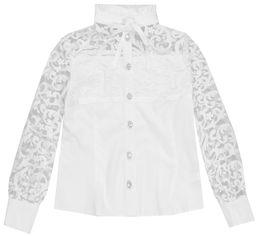 Акция на Блузка Zironka Textile Gepur 26-9089-1 164 см Белая (ROZ6205084040) от Rozetka