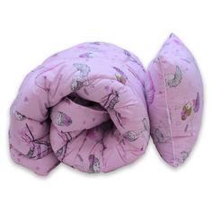 Акция на Комплект  детский « Girls» ТМ ТАG одеяло лебяжий пух 1,5 — спальное (145х215см) + подушка (40х60см) от Allo UA