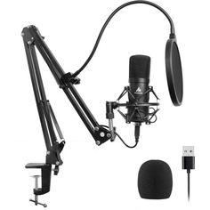 Акция на Cтудийный конденсаторный USB микрофон Maono AU-A04 Black от Allo UA