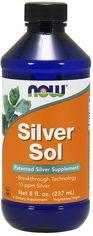 Акция на Now Foods Silver Sol 10 Ppm Liquid 8 Fl Oz Гидролизоль серебра от Stylus