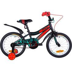 """Акция на Велосипед 16"""" Formula RACE 9"""" черно-оранжевый с бирюзовым (м)2020(OPS-FRK-16-107) от Allo UA"""
