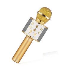 Акция на Беспроводной микрофон караоке bluetooth WS858 Karaoke Gold от Allo UA