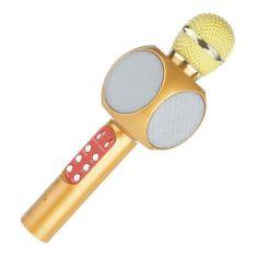 Акция на Беспроводной микрофон караоке с динамиком и цветомузыкой Wster Ws-1816 yellow от Allo UA